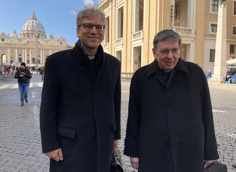 Rev. Dr Olav Fykse Tveit, general secretary of the World Council of Churches and Cardinal Kurt Koch, president of the Pontifical Council for Promoting Christian Unity.