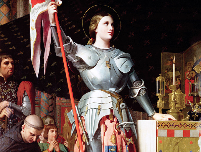 "Jean Auguste Dominique Ingres, ""Joan of Arc at the Coronation of Charles VII"", 1854"