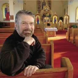 Father Edward Danylo Evanko at the Church of the Dormition of the Mother of God, in Richmond (Vancouver) British Columbia.