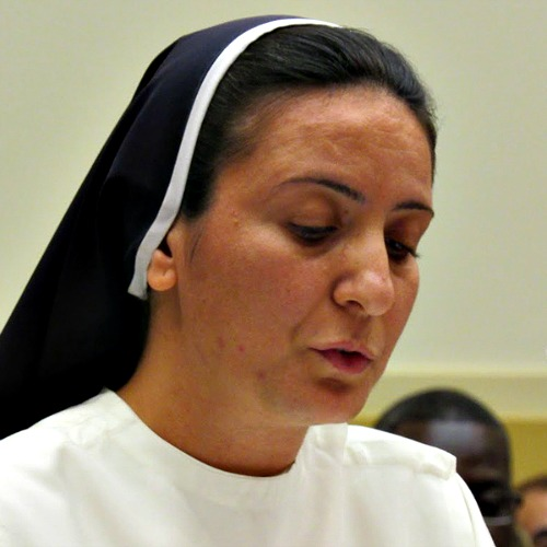 Dominican Sister Diana Momeka testifies before the House of Foreign Affairs Committee in Washington on May 13.
