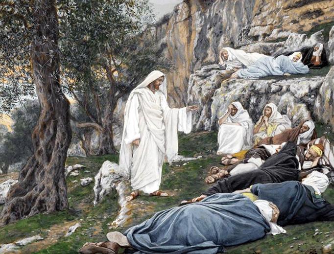 """James Tissot (1836-1902), """"Jésus Engage les Apôtres à se Reposer"""""""