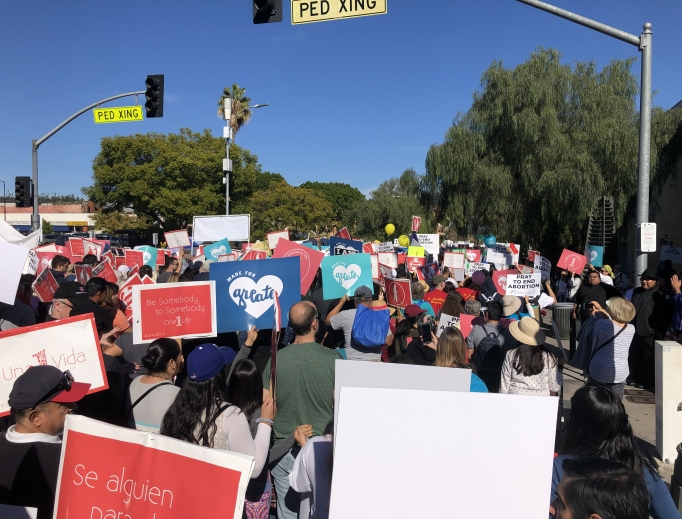 Thousands of pro-lifers descended on the streets of L.A. to witness to the dignity of human life.