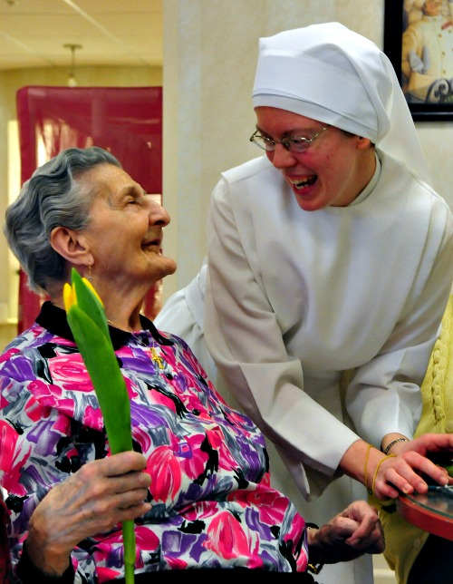 For 175 years, the Little Sisters of the Poor have provided physical, spiritual and emotional care for the low-income elderly and dying in communities throughout the United States. Above is from the Little Sisters' Mullen Home in Denver.