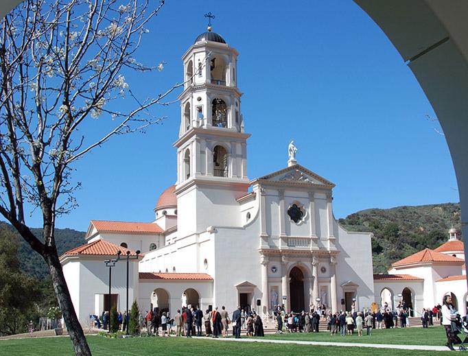 View of the Thomas Aquinas College chapel.