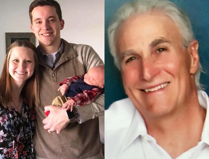 LEFT: Ben, Sara and Baby Jude Hoffman. RIGHT: Paul Peloquin.