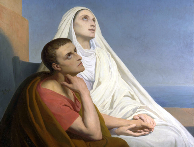 """Ary Scheffer, """"St. Augustine of Hippo and His Mother St. Monica of Hippo,"""" 1846"""