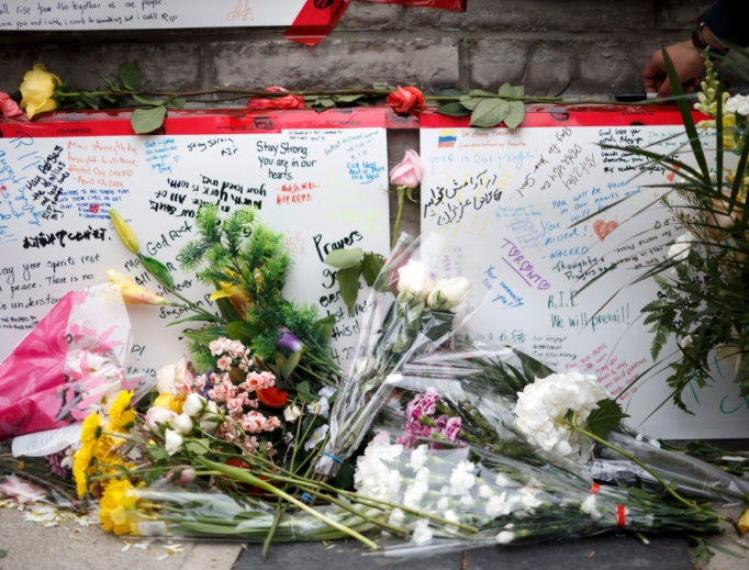 Memorial for victims of April 23 attack on Yonge St. at Finch Ave. in Toronto.