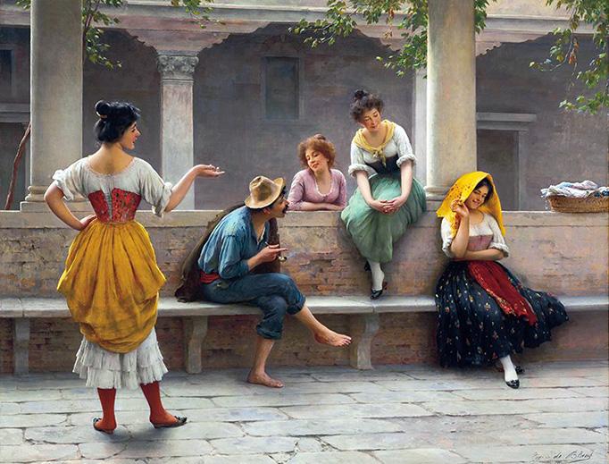 """Eugene de Blaas, """"Gossip"""", 1903"""