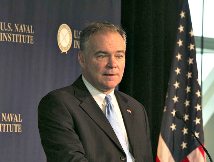Democratic candidate for vice president Tim Kaine of Virginia