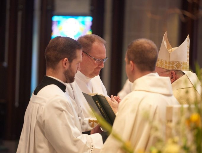 Father Barry Saylor, who was ordained June 30, 2018, by Bishop William Callahan for the Diocese of La Crosse, Wisconsin, relies on prayer as he learns more and more about being a priest.