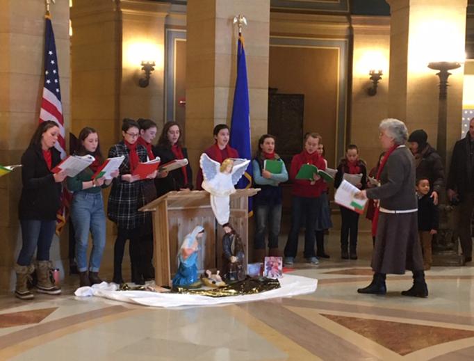 The Nativity scene in Minnesota