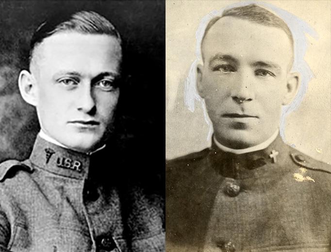 Left: Lt. William Fitzimons. Right: Lt. William F. Davitt