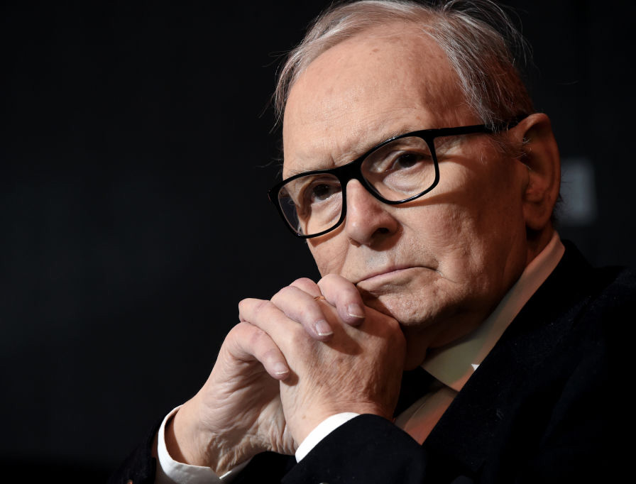 Ennio Morricone receives an honorary degree at Accademia di Belle Arti di Brera on Feb. 27, 2019, in Milan, Italy.