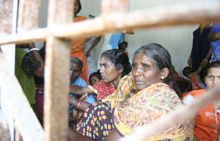 Christian families displaced by violence in India's Odisha state in 2008.