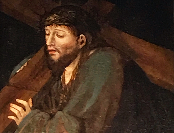 """""""Christ Carrying the Cross"""", from the Monastery of St. John of the Cross in Segovia, Spain"""