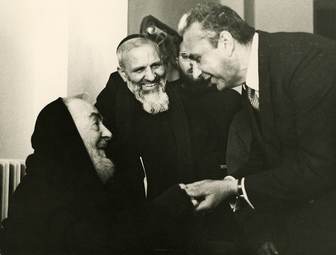 Padre Pio with Aldo Moro