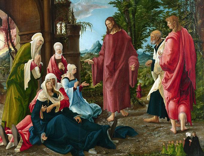 "Albrecht Altdorfer (1480-1538), ""Christ Taking Leave of His Mother"""