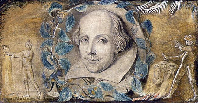 """William Blake, """"William Shakespeare"""" (c. 1800)"""