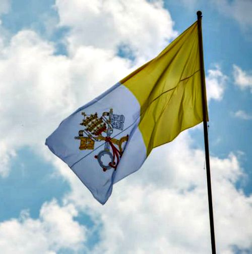 The Vatican City papal flag