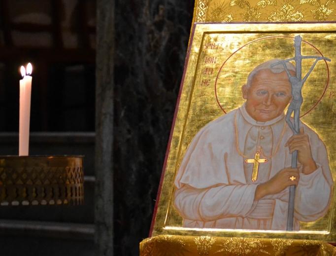 Icon of St. John Paul II in Santa Maria Church (Sant'Egidio community) in Rome.