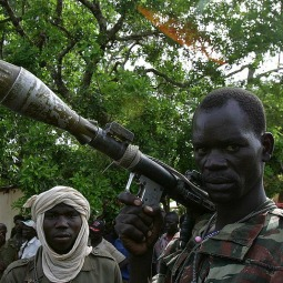 Armed rebels in the north of the Central African Republic
