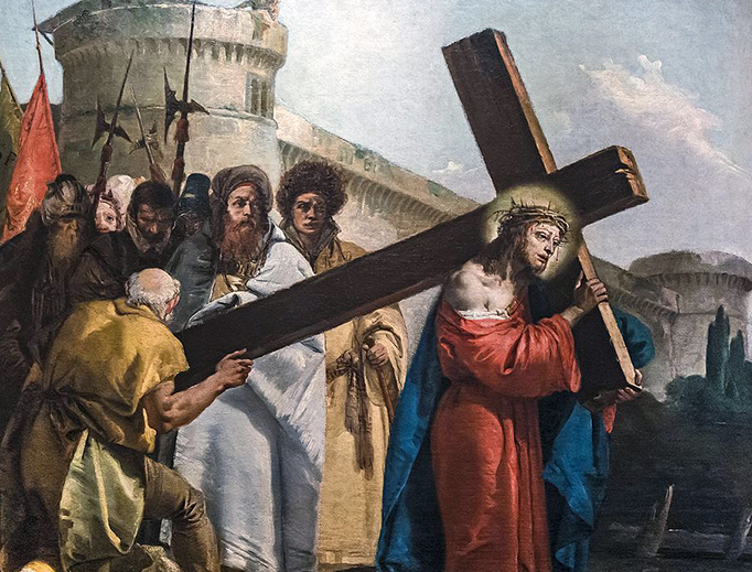 "Giovanni Domenico Tiepolo (1727–1804), ""Simon of Cyrene Helps Jesus Carry the Cross"""