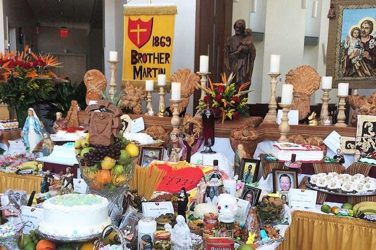 A St. Joseph altar on the March 19 feast of St. Joseph.