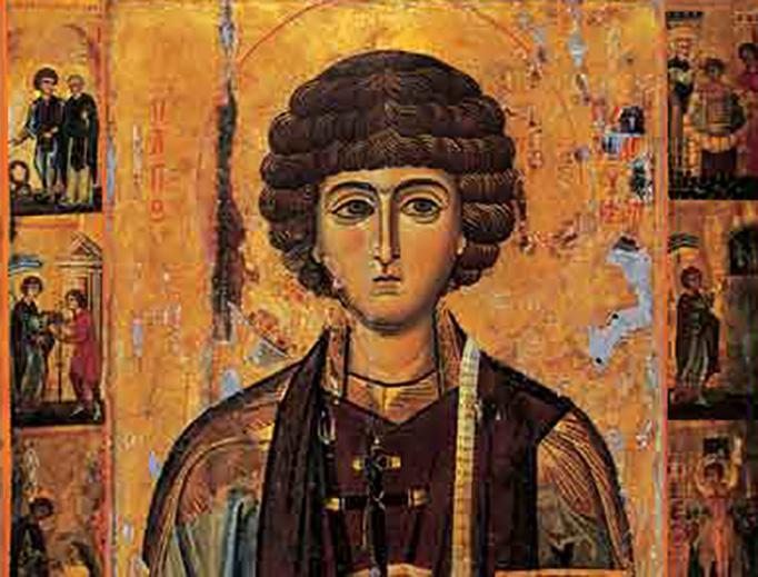 13th-century icon of St. Pantaleon at St. Catherine's Monastery, Mount Sinai