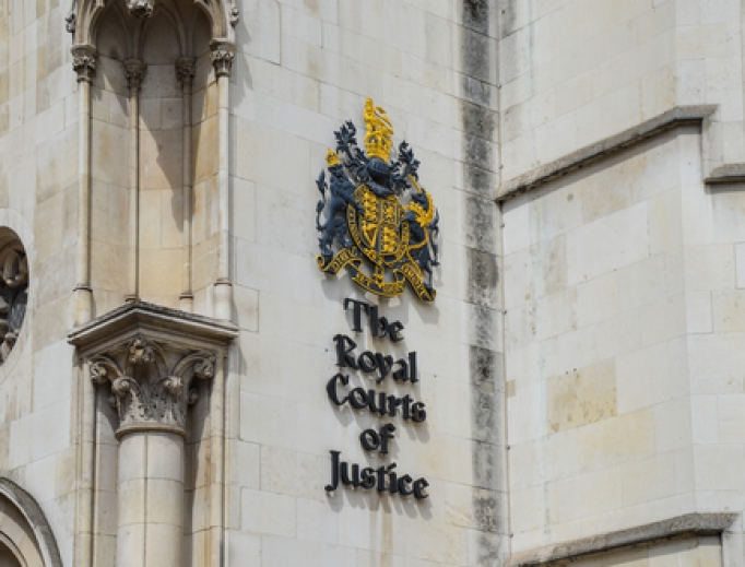 The Royal Courts of Justice on Fleet Street in London.