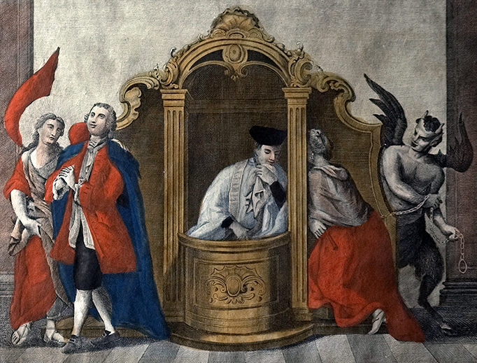 "Francesco Novelli - Amad. Gabrieli, ""The Sacrament of Penance"" (1800), via Wikimedia Commons"