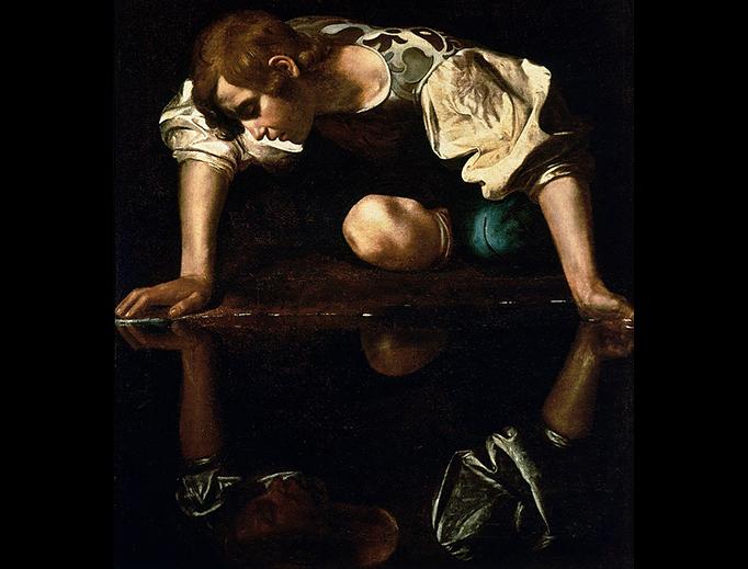 """Caravaggio (1571-1610), """"Narcissus"""""""