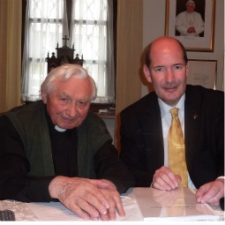 Michael Hesemann with Msgr. Georg Ratzinger