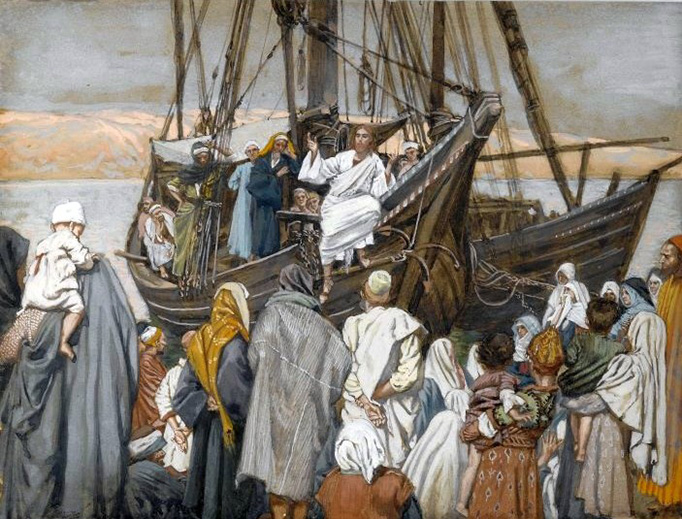 "James Tissot (1836-1902), ""Jesus Preaches in a Ship"""
