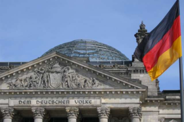 The Reichstag building in Berlin, where the Bundestag meets.
