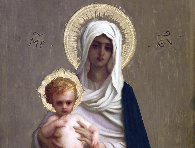 """Ernest Hébert (1817-1908), """"Virgin of the Deliverance"""""""