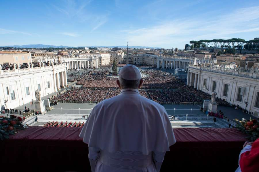 Pope Francis delivers his message Christmas Day 2018.