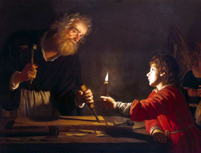 "Gerard van Honthorst (1592-1656), ""Childhood of Christ"""