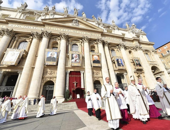 Pope Francis presides at Oct. 14 canonization Mass.