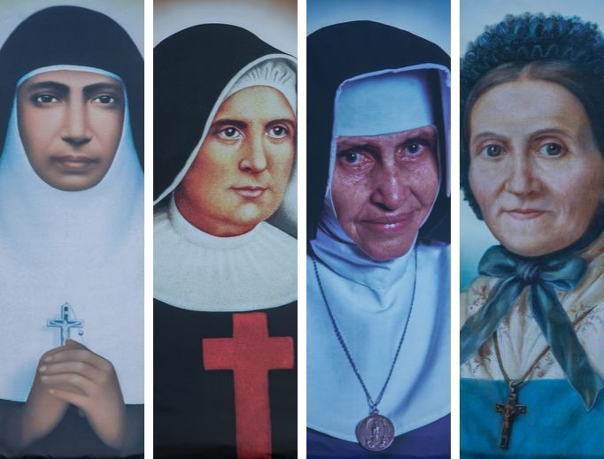 The canonization of several female saints on October 13, 2019.