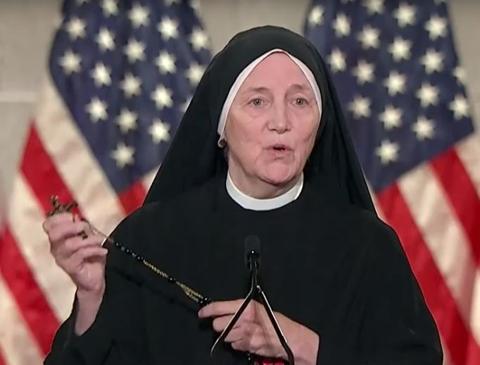 Sister Deirdre Byrne was among the speakers at the 2020 Republican National Convention. The Catholic religious sister, who is a surgeon as well as a retired Army officer and missionary, spoke Aug. 26 and included references to life and the unborn in her speech.