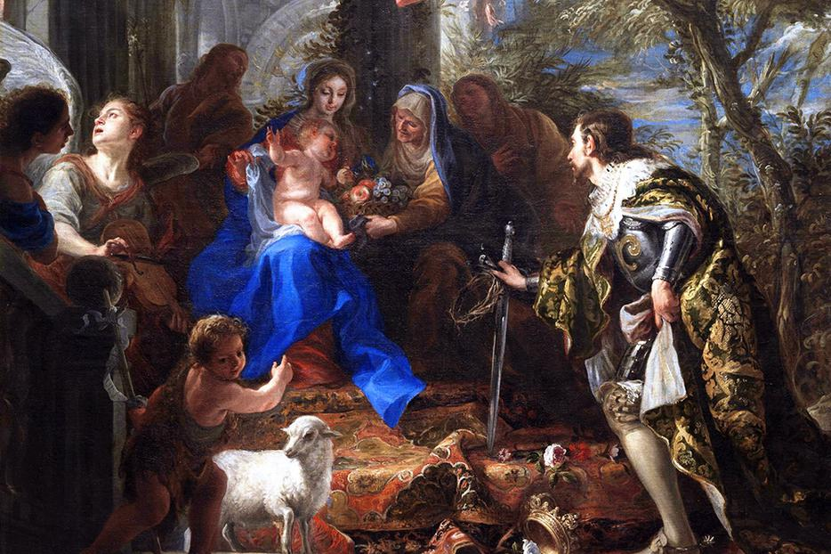 """Claudio Coello, """"Virgin and Child With St. Louis, King of France,"""" c. 1665"""