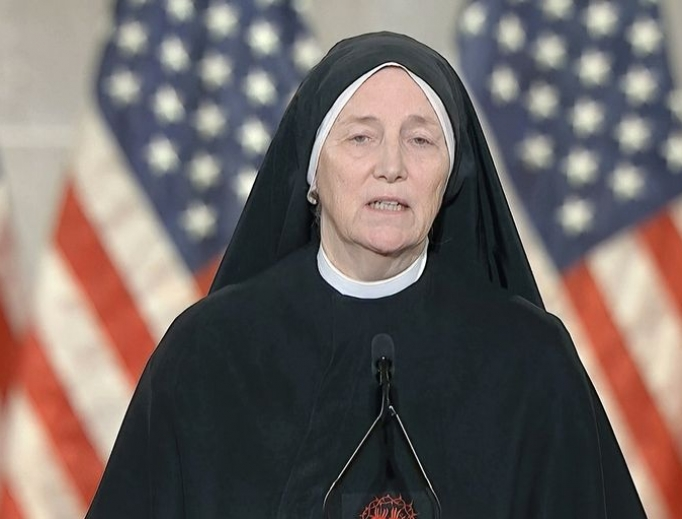Sister Deidre Byrne addresses the 2020 Republican National Convention on Aug. 26.