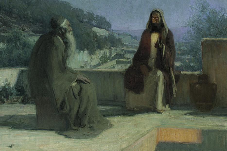 "Henry Ossawa Tanner, ""Nicodemus and Jesus on the Rooftop,"" 1899"