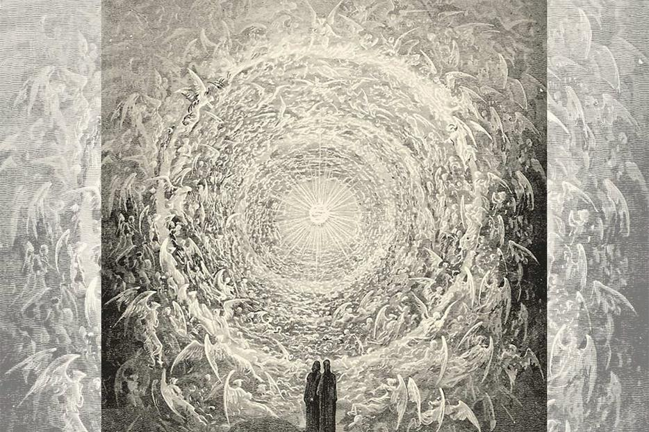 """""""Dante and Beatrice Gaze Upon the Highest Heaven"""""""