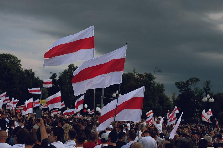 Protests in Minsk on August 19, 2020.