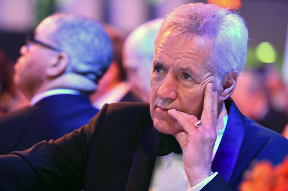 """Jeopardy!"" host Alex Trebek attends the 2016 USO Gala in Washington, D.C., Oct. 20, 2016."