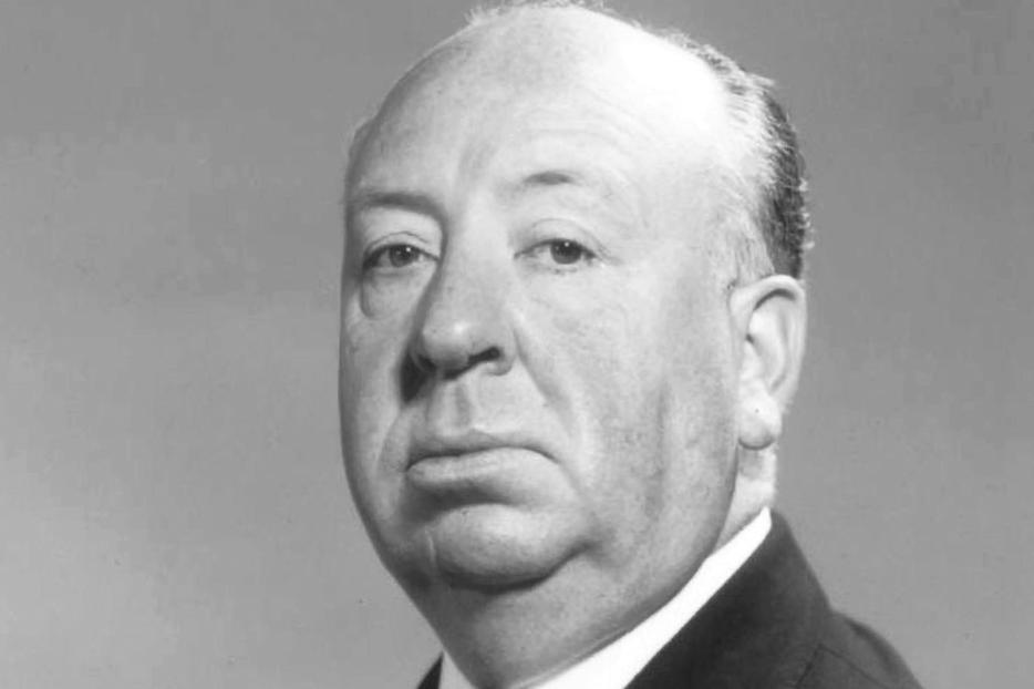 Studio publicity photo of Alfred Hitchcock