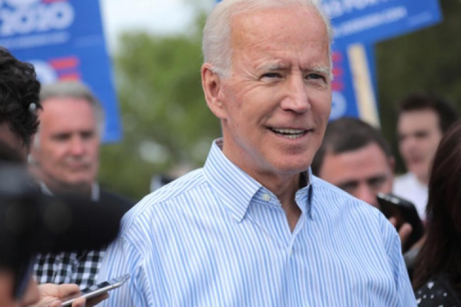 Former Vice President Joe Biden courts potential voters in Iowa on May 25, 2019.