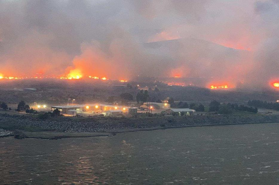 Flames spreading rapidly in Bridgeport, Washington. Raging fires along the West Coast are forcing families to evacuate with no return in sight.