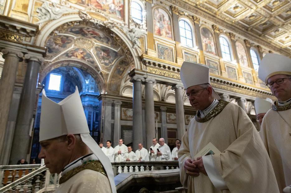 California bishops during their Ad Limina visit to Rome  in January 2020.